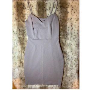 (Mystic) Lavender spaghetti strap dress.